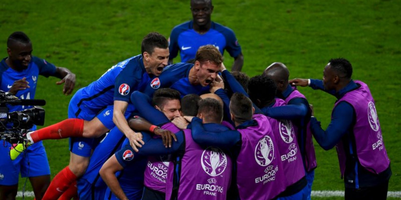Francia celebró en el inicio de la Eurocopa y se ilusionan con hacer valer su favoritismo Foto:Getty Images