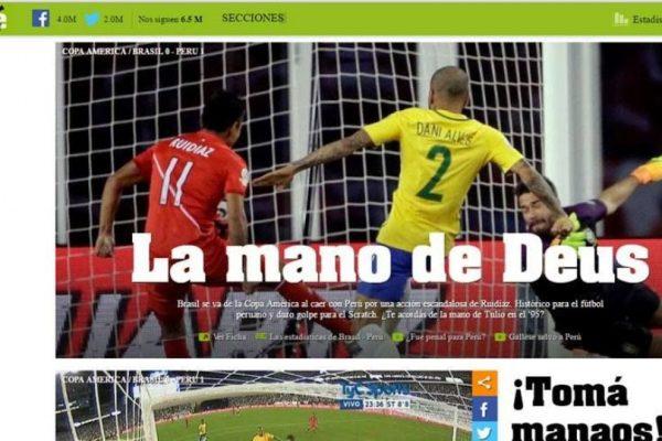Así reaccionó la prensa en Brasil tras el triunfo de Perú