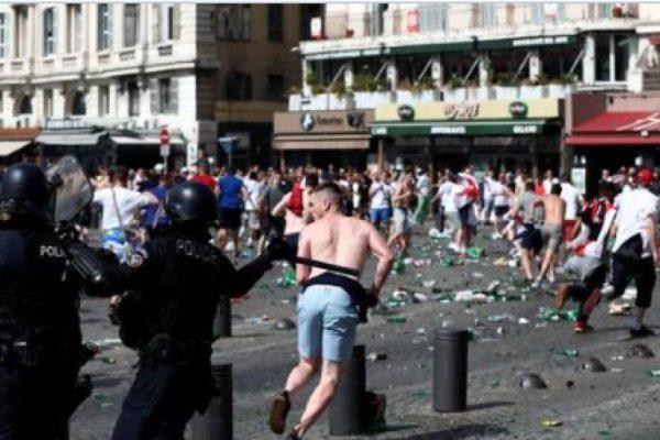 GoPro grabó la pelea contra los hooligans en Marsella