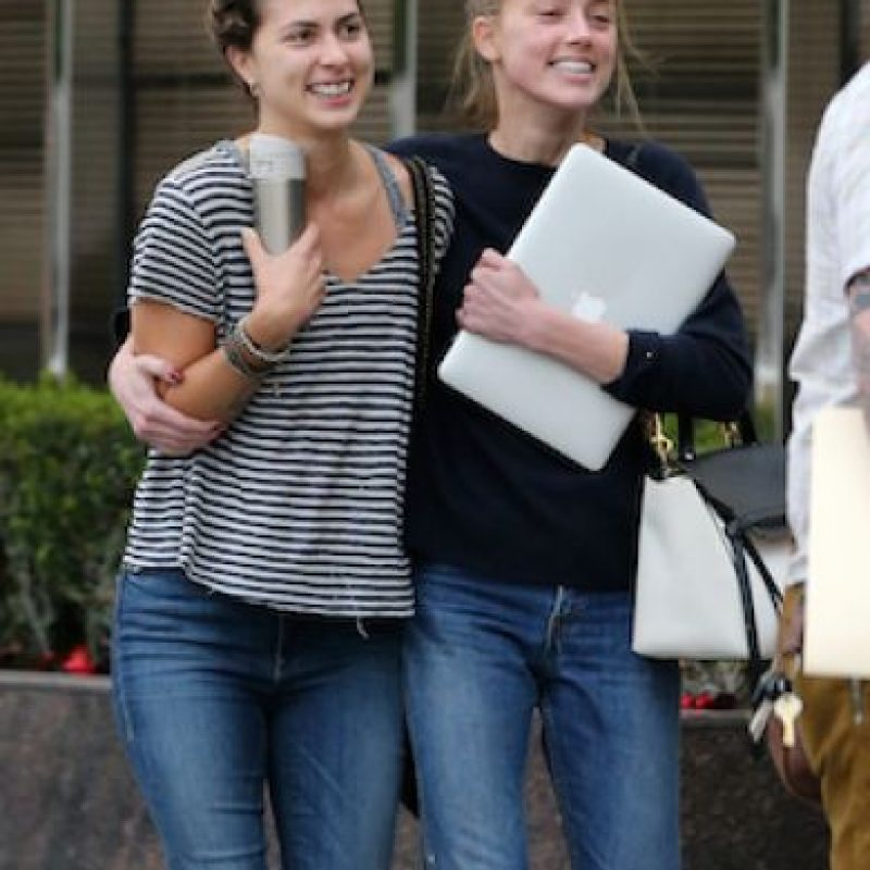 Así lucía Amber tras junta con sus abogados Foto:Grosby Group