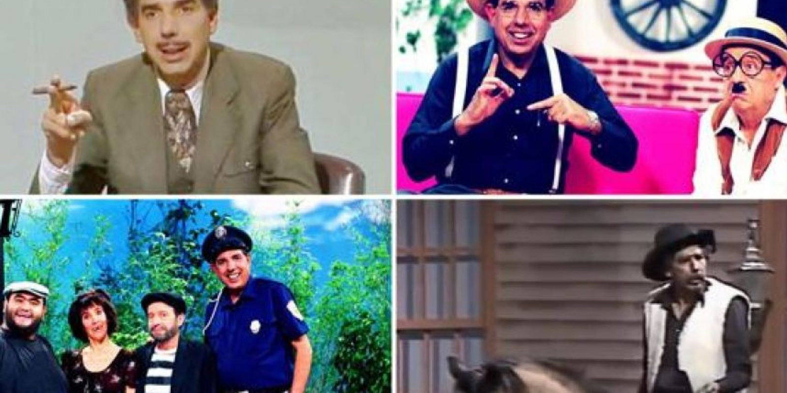 """Es recordado por personajes como """"El Profesor Jirafales"""", """"El Sargento Refugio"""" y """"Lucas Tañeda"""" Foto:Twitter.com"""