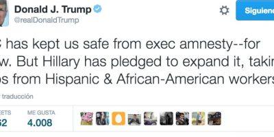Así reaccionó Donald Trump, precandidato presidencial del Partido Republicano Foto:Twitter.com/RealDonaldTrump