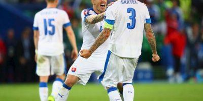 Los debutantes cumplieron y cuatro de ellos (Eslovaquia, Islandia, Irlanda del Norte y Gales), mientras que Albania quedó fuera Foto:Getty Images