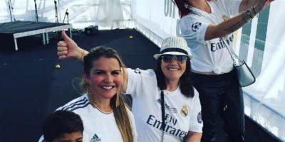 Hijo, hermana y mamá de Cristiano Ronaldo en San Siro Foto:Twitter: @CrismemeRonaldo