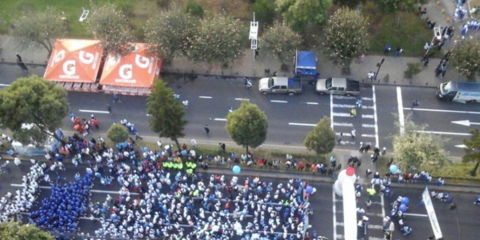 Participantes del evento deportivo Foto:Twitter: @PoliciaEcuador