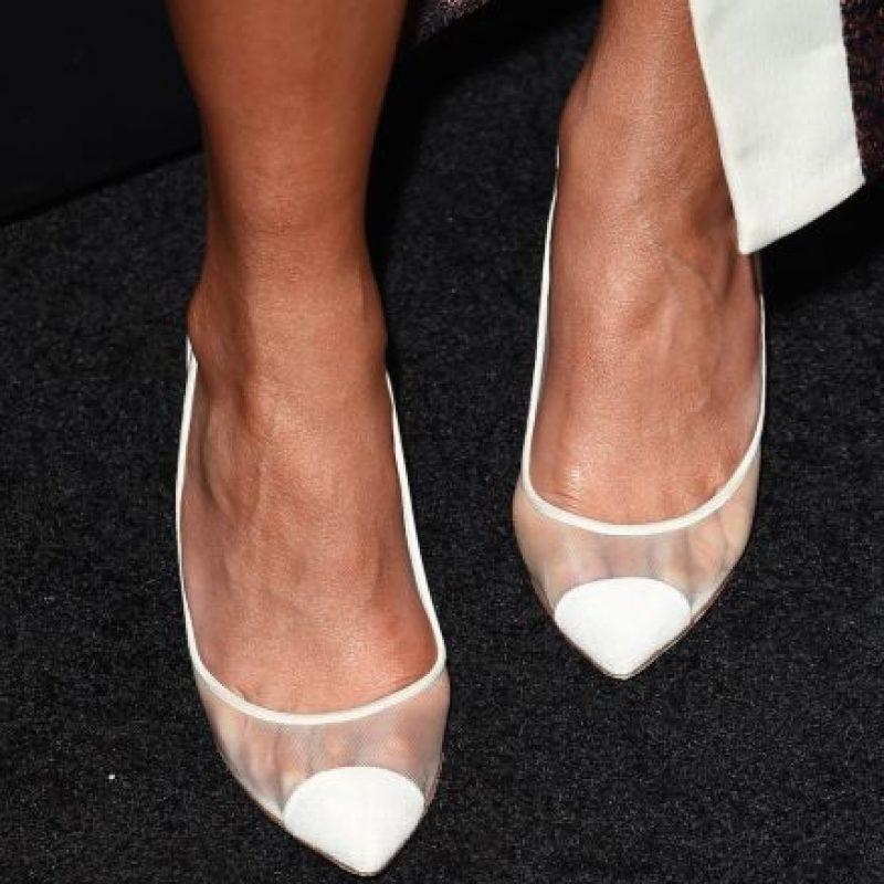 Y de esta forma se ven con otras zapatillas Foto:Getty Images