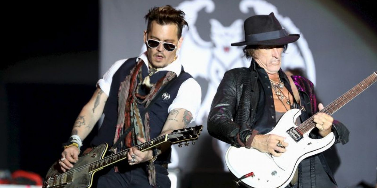 Junto al actor Johnny Depp y Alice Cooper conforman la banda Hollywood Vampires Foto: Getty Images