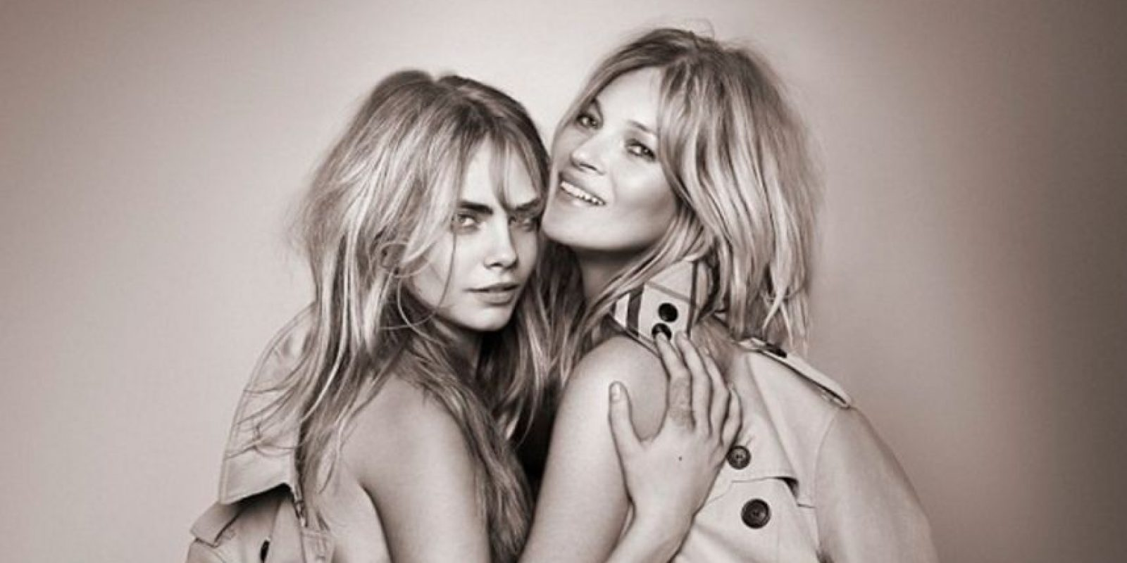 Cara Delevingne y Kate Moss Foto:Burberry