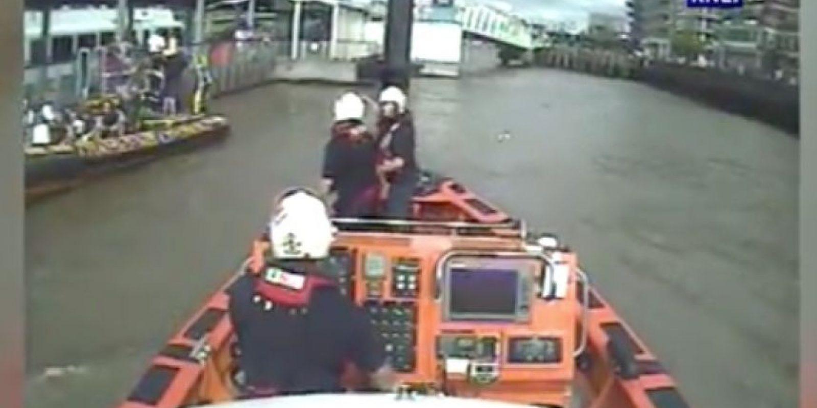 Posteriormente llegaron los rescatistas Foto:RNLI