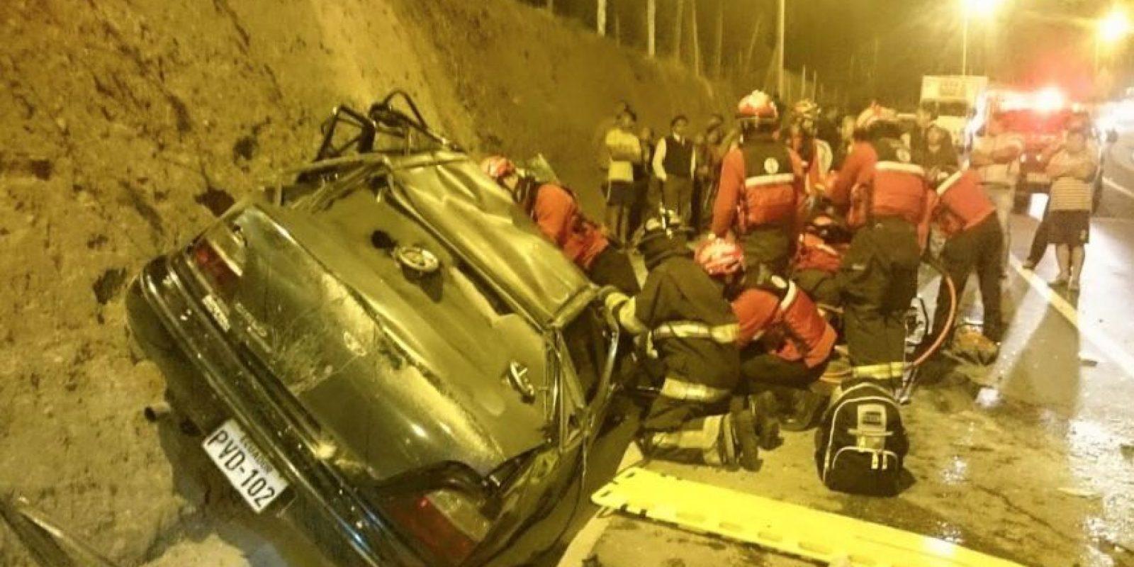 Accidente en la Ruta Viva Foto:ECU 911