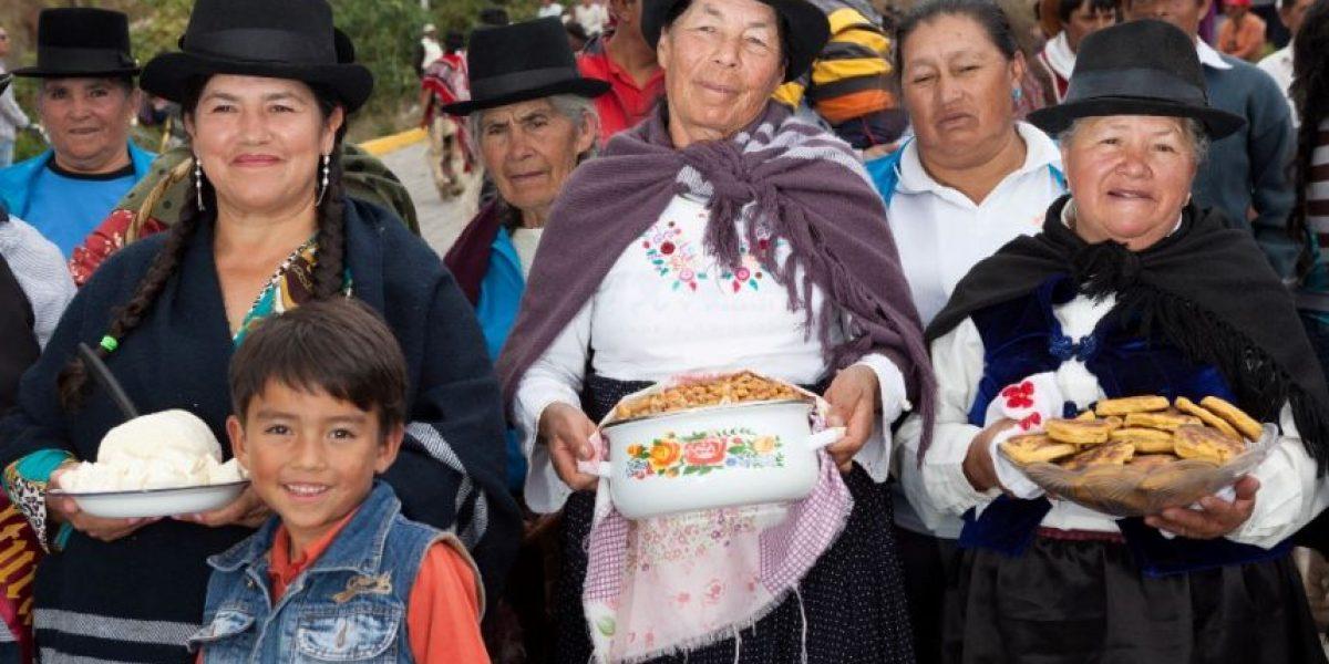 Aloguincho celebra la 'Fiesta de la Cosecha'