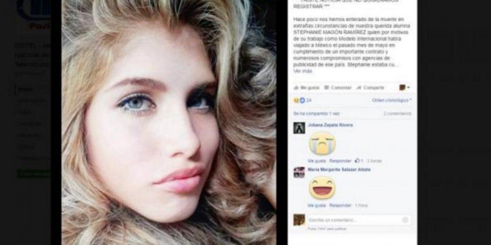 Fue hallada con señales de tortura y su familia espera repatriar su cuerpo. Foto:Facebook