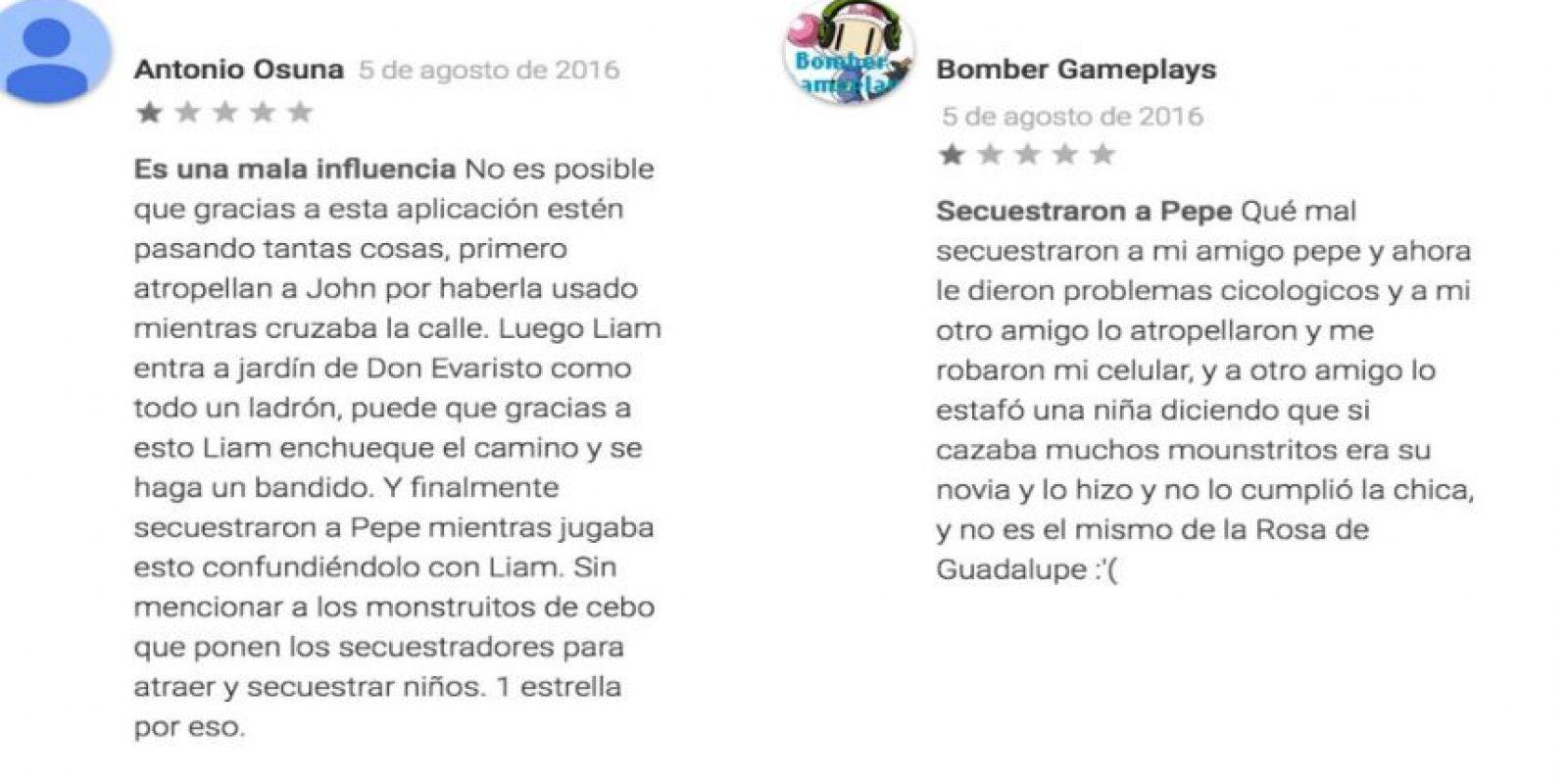 Comentarios en la Play Store Foto:Play Store