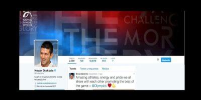 6. Novak Djokovic (@djokernole) – 6.48 millones Foto:Twitter