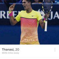 Atletas olímpicos en Tinder: El tenista australiano Thanasi Kokkinakis Foto:Instagram