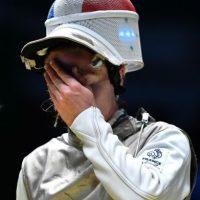 La esgrimista francesa Astrid Guyart Foto:Getty Images