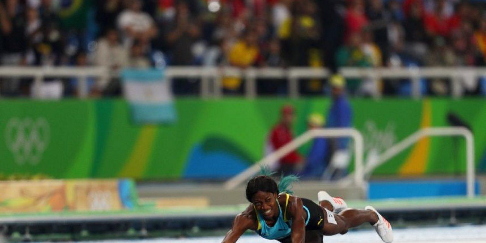 Su forma poca ortodoxa de ganar el oro se volvió viral. Foto:Getty Images