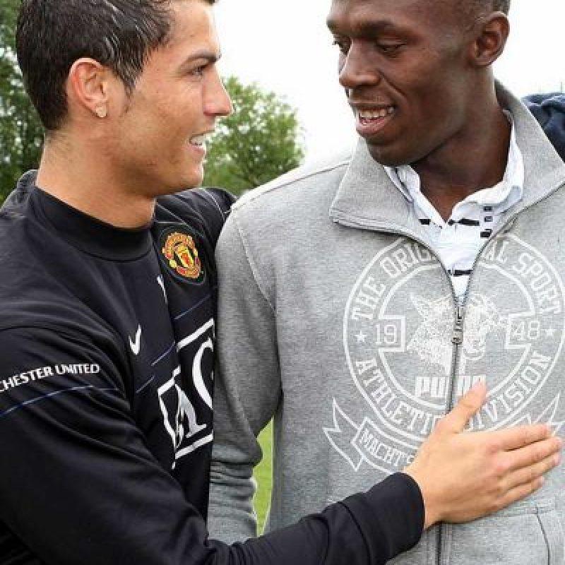 """Ellos se conocen desde que """"CR7"""" militaba en Manchester United. Foto:Getty Images"""