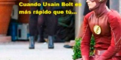 """Los mejores memes del """"triple-triple"""" de Usain Bolt Foto:Twitter"""