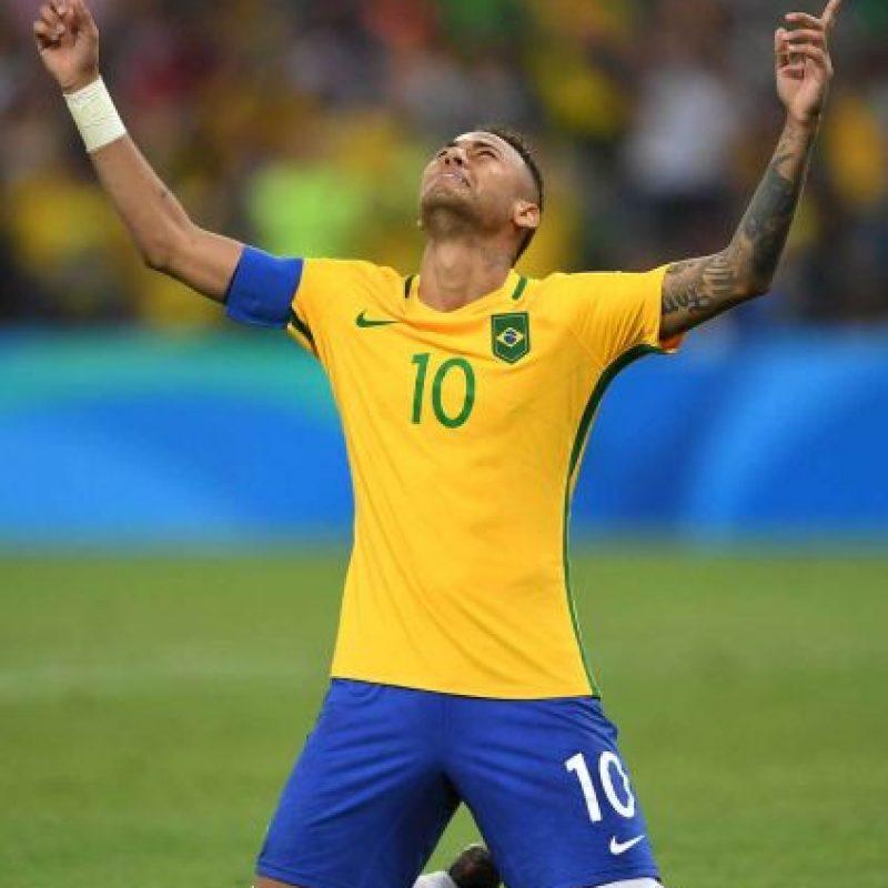Neymar fue el líder de esta selección histórica. Foto:Getty Images