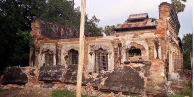 Templo tras un terremoto en Seik Phyu, Birmania. Foto:EFE