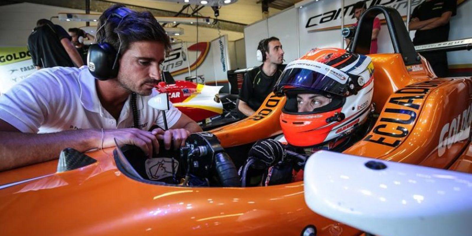 Julio Moreno en su monoplaza de Fórmula 3. Foto:CORTESÍA