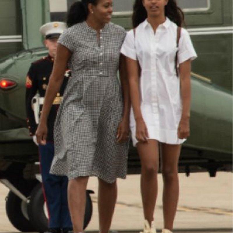 Michelle Obama en su regreso de vacaciones Foto:AGENCIAS