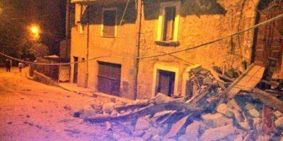 Esto sería Amatrice, pueblo que quedó casi destruido Foto:Twitter