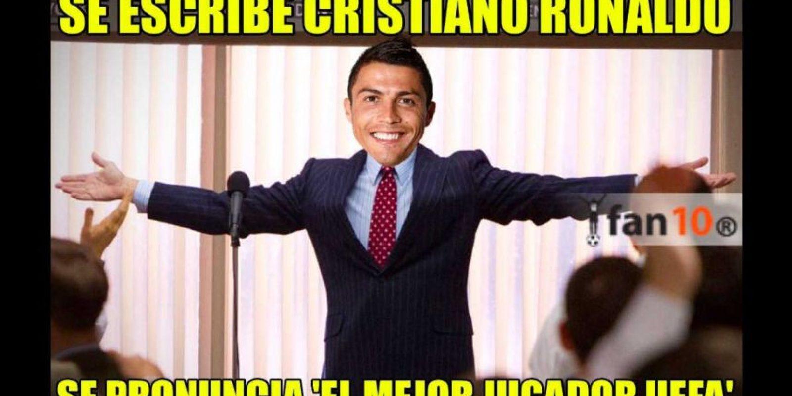 Finalmente, Cristiano Ronaldo fue nombrado el mejor jugador de la UEFA. Foto:Vía twitter.com