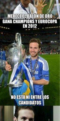 Juan Mata hizo lo mismo que Cristiano Ronaldo hace cuatro años. Foto:memedeportes.com