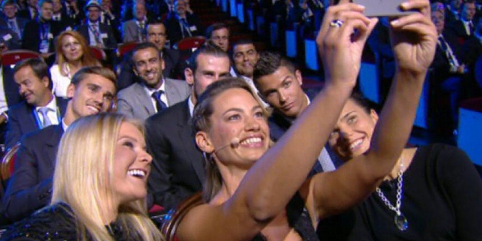 El selfie con Cristiano, Bale y Griezmann se volvió viral Foto:Twitter