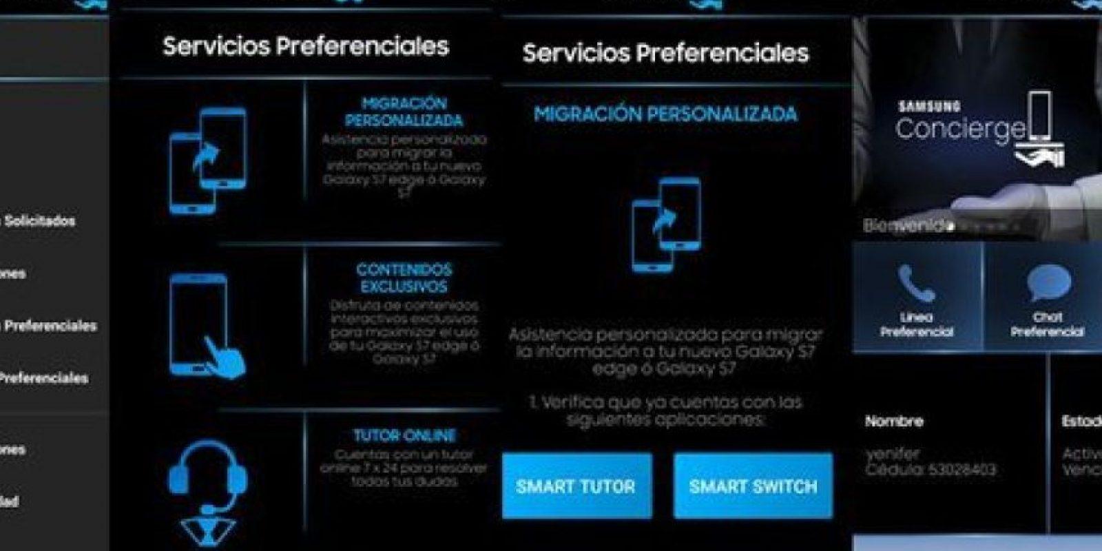 Captura de pantalla del servicio prestado por Samsung. Foto:HSB Noticias.. Imagen Por: