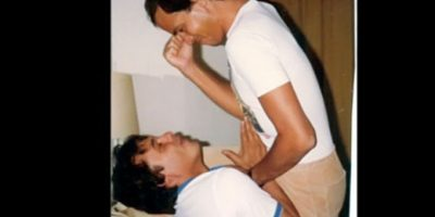 """Juan Gabriel y """"Junior"""" (Foto: gentileza TVNotas y replicado por Dos Orillas )"""
