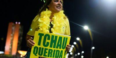 También hubo manifestaciones en contra de Dilma Rousseff Foto:AFP