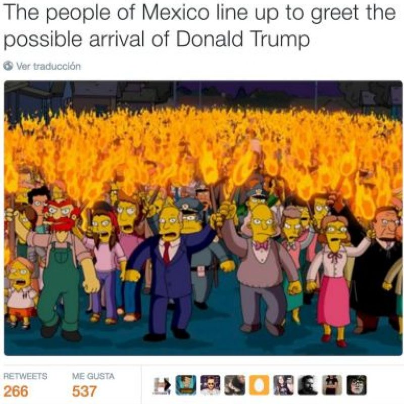"""""""Los mexicanos se reúnen ante la posible llegada de Donald Trump"""" Foto:Twitter.com"""