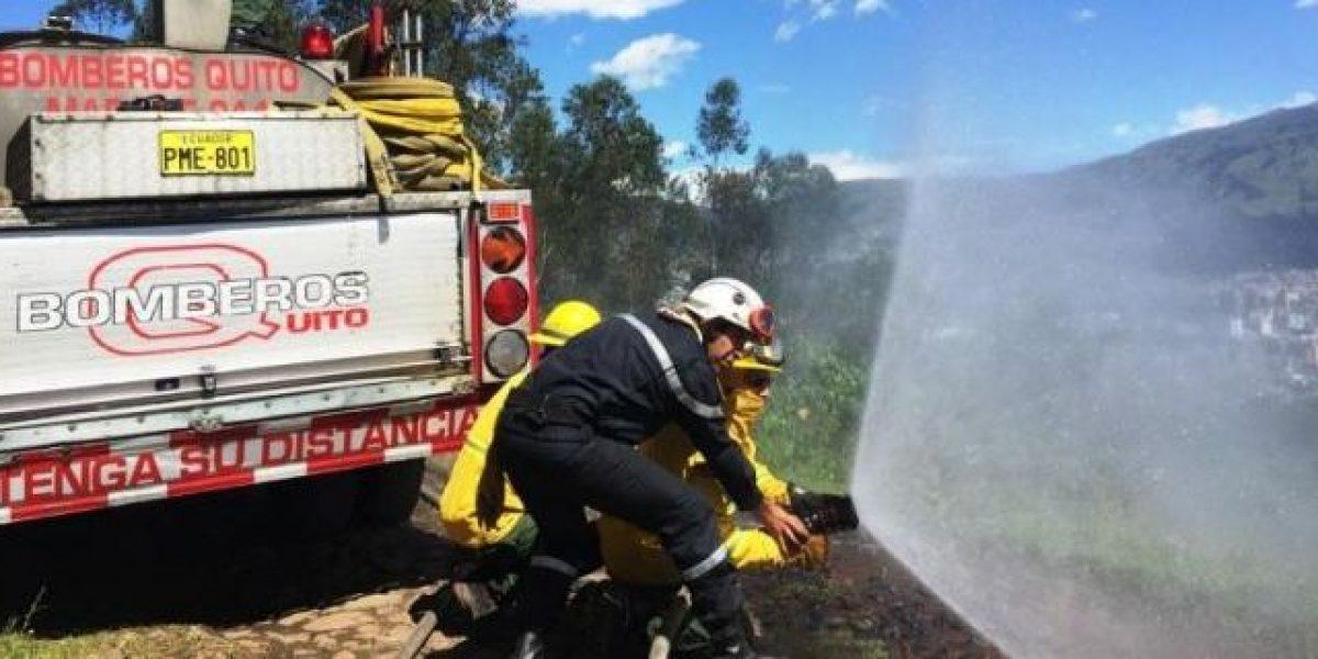 Incendios forestales disminuyeron en un 65% en Quito