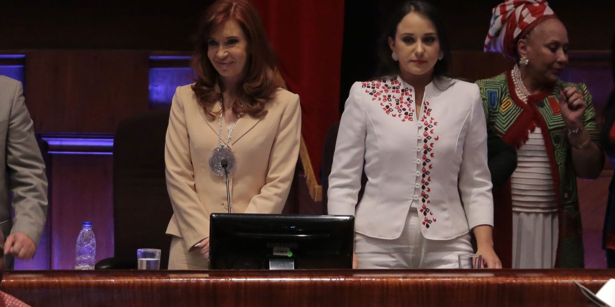 Cristina Fernández fue condecorada en la Asamblea Nacional