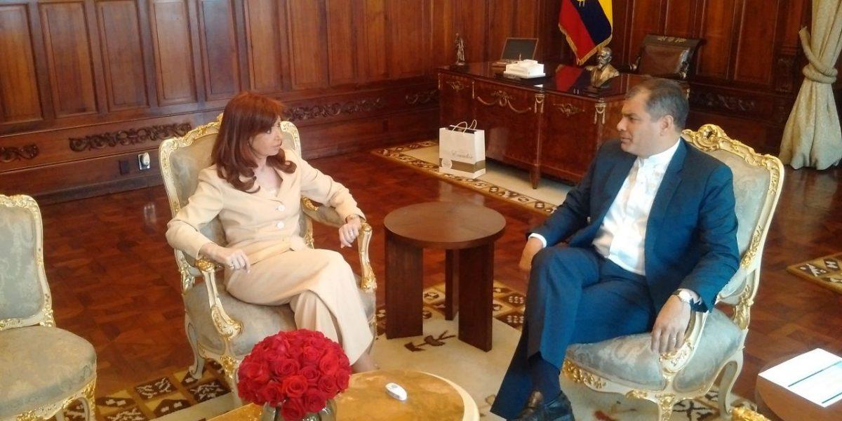 "Correa: ""Es un honor para el país recibir a Cristina"""