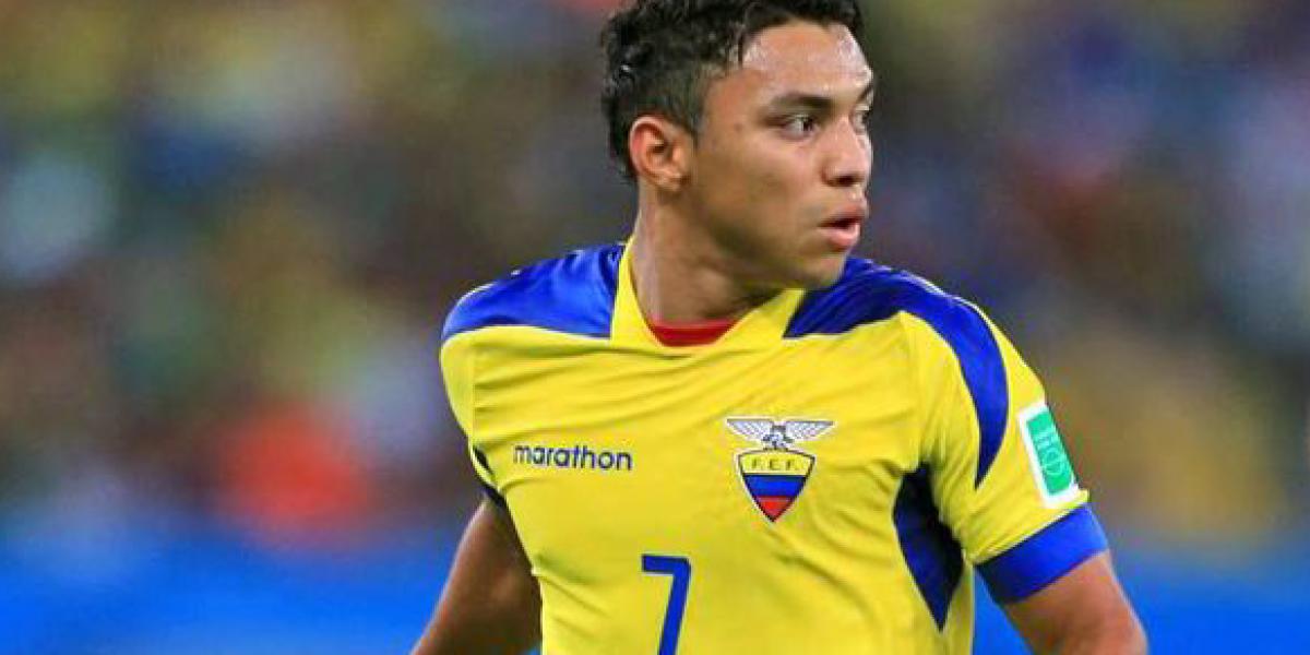 Jefferson Montero es la primera baja de Ecuador