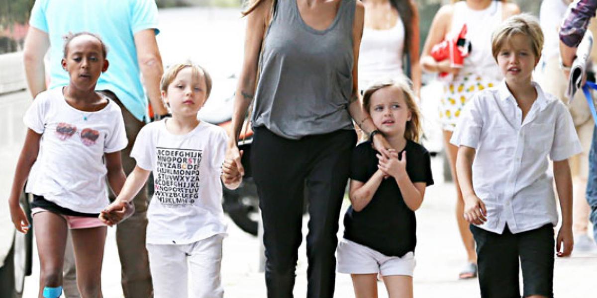 Publican fotos de los hijos de Brad y Angelina después del divorcio