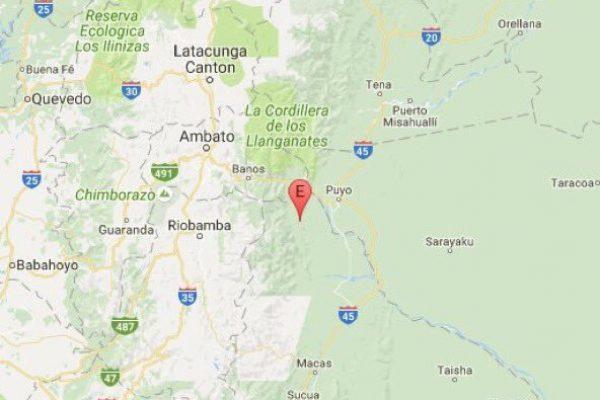 Reportan sismo de 4,8 en Puyo