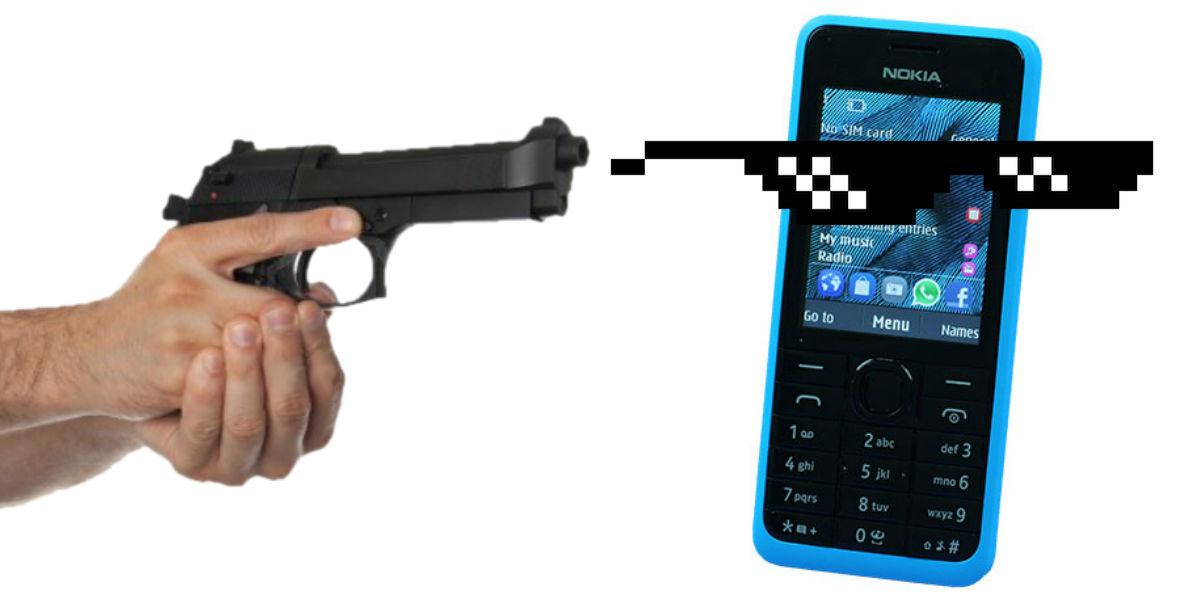 Este celular Nokia no es inteligente, pero sí detiene balas