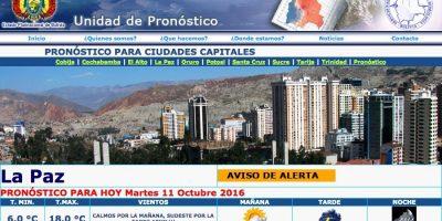 Clima para La Paz según Senamhi. Imagen Por: Internet