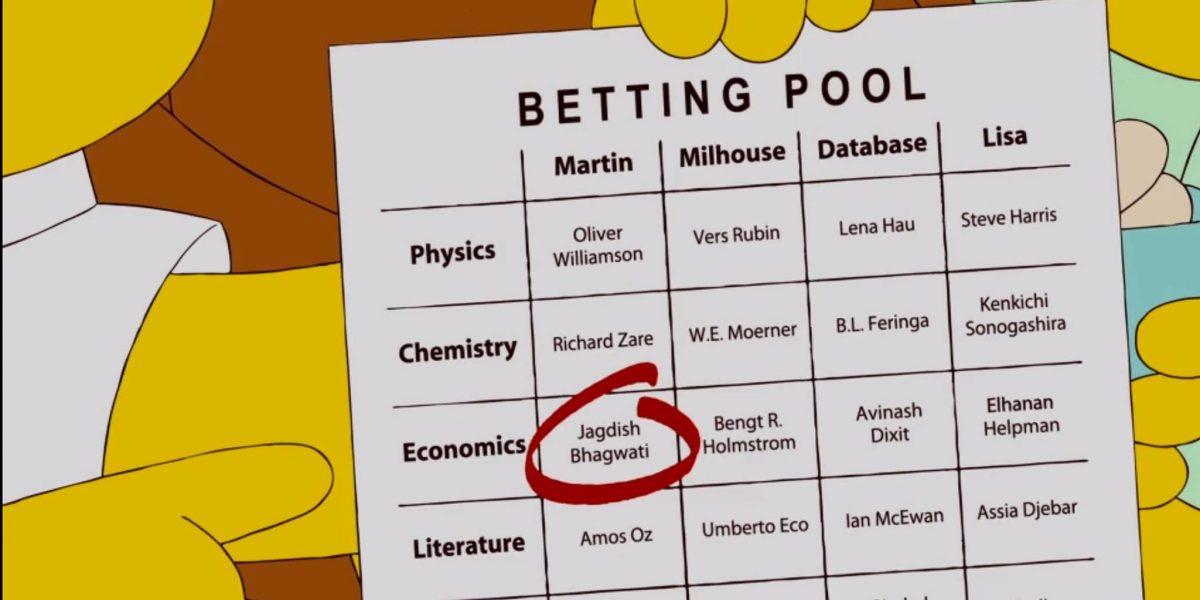 La predicción de  Los Simpson: Los Nobel de Economía y Química