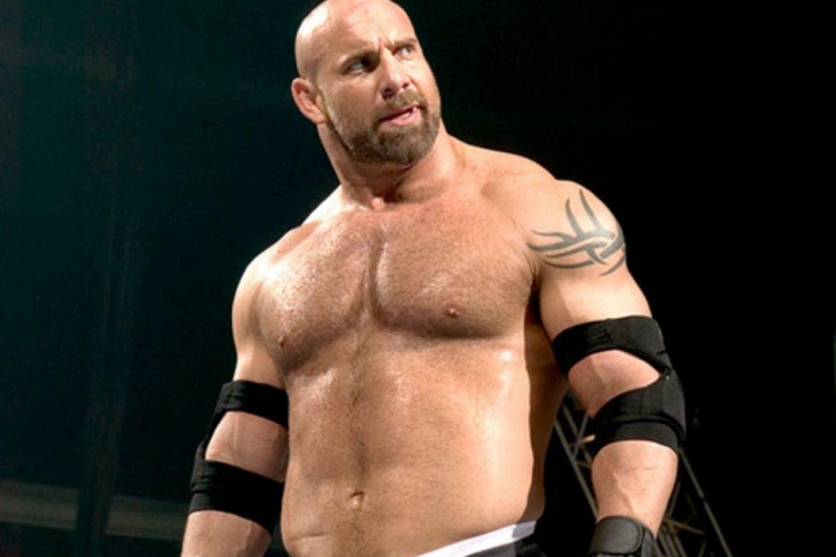 Brock Lesnar reta a Goldberg. Imagen Por: WWE