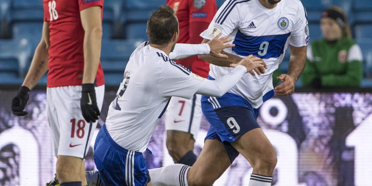 La notable reacción en Noruega con el histórico gol de San Marino