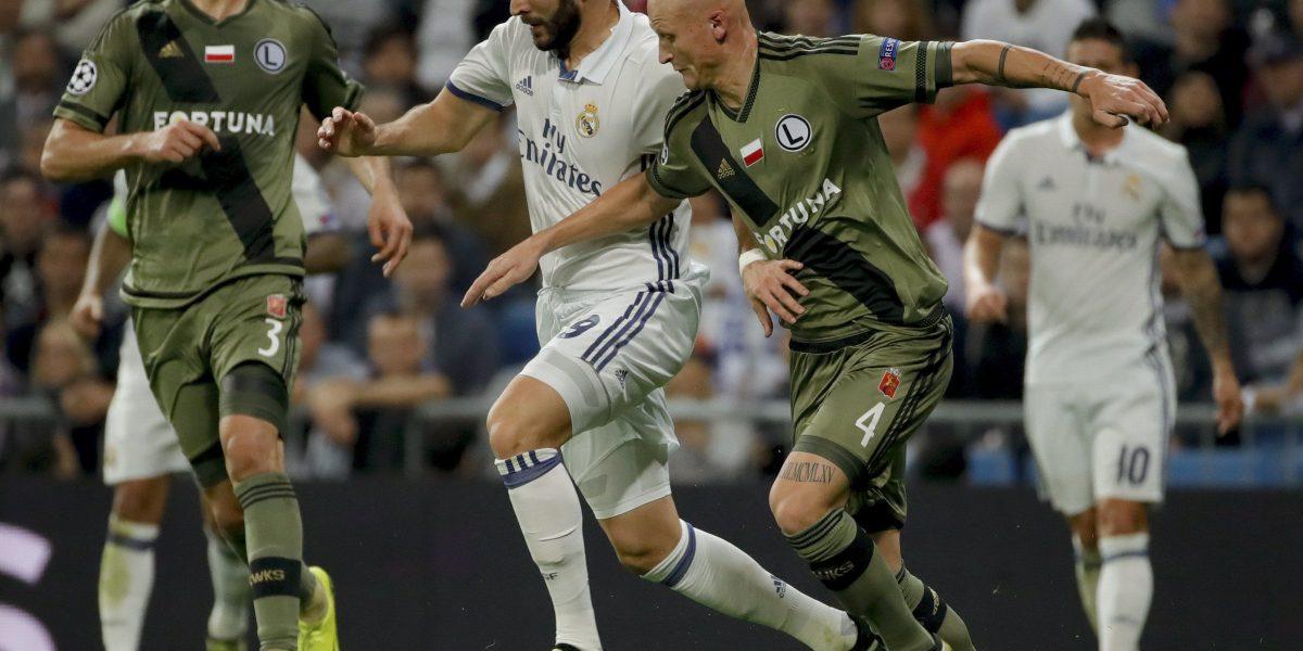 Real Madrid goleó al Legia de Varsovia 5-1