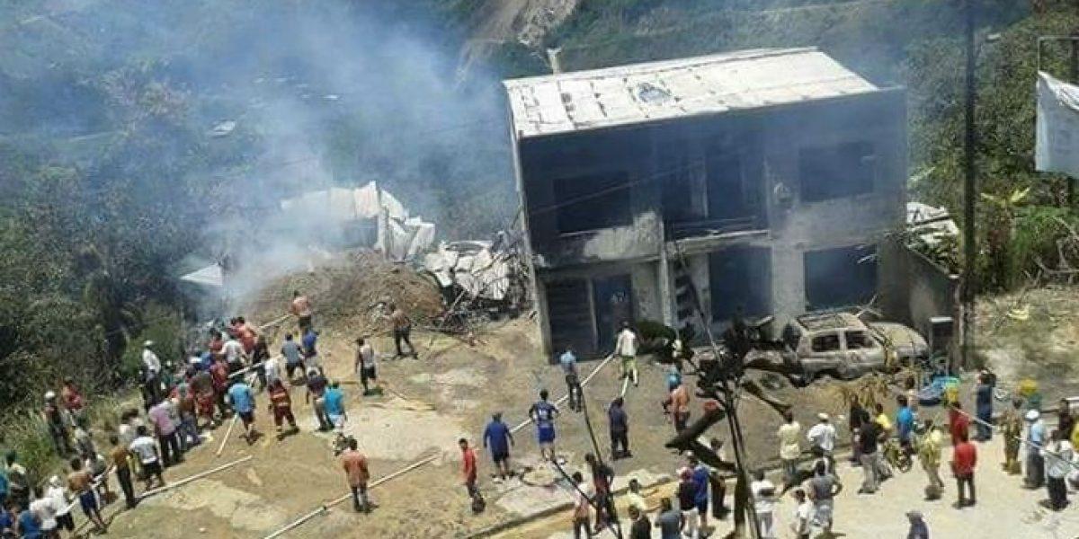Cuatro personas heridas dejó incendio en gasolinera de Palanda
