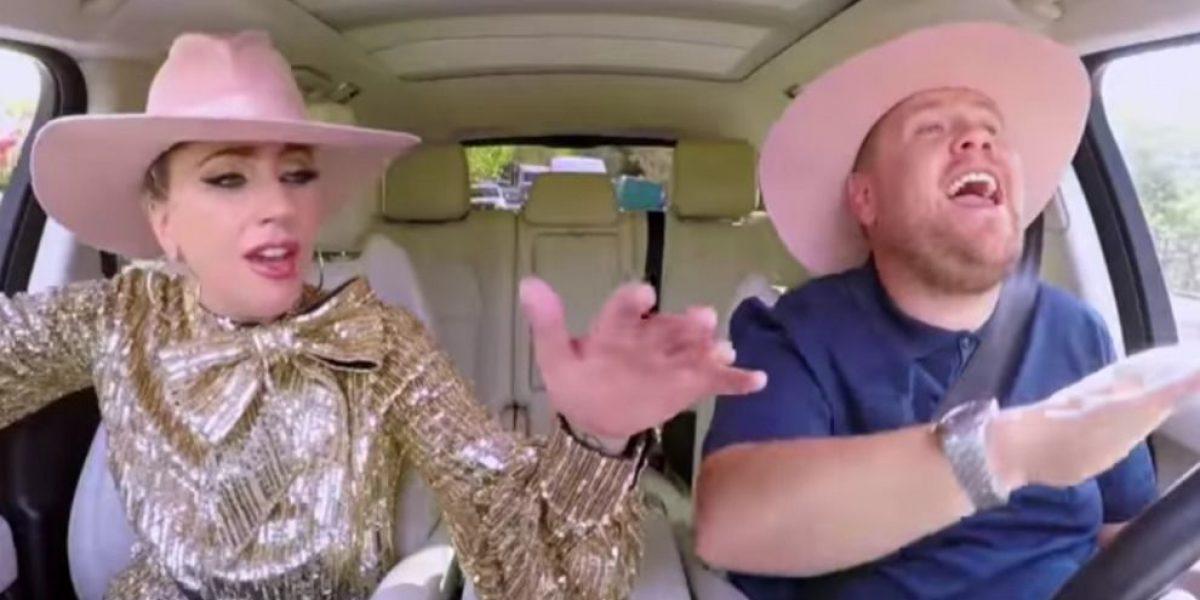 Lady Gaga se robó el show en el Carpool Karaoke