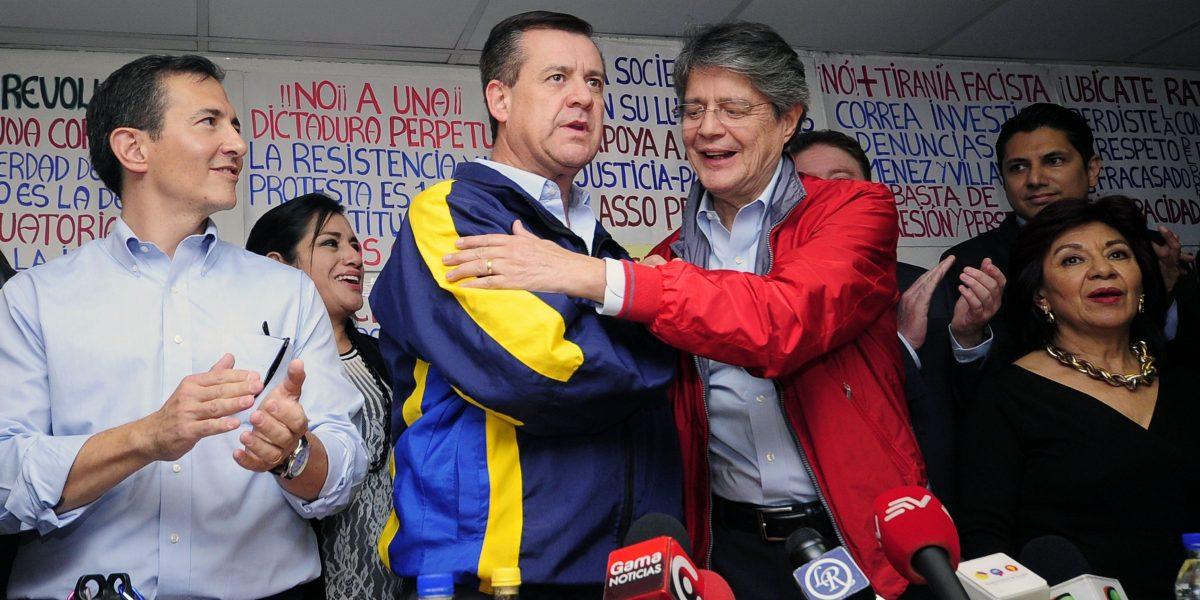 Andrés Páez es el binomio de Guillermo Lasso